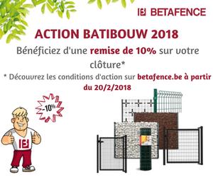 Betafence – action Batibouw 2018 > -10%
