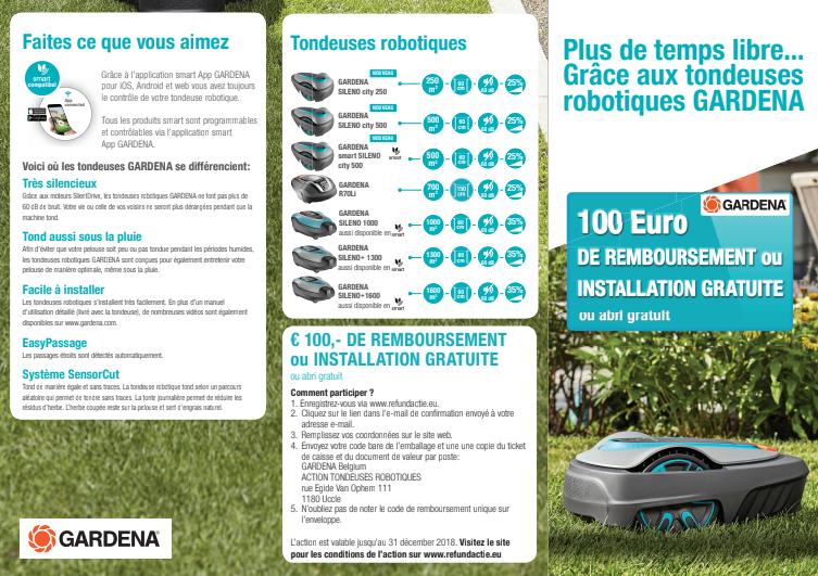 Promo Gardena robots tondeuses 2018